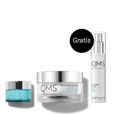 QMS Medicosmetics Day & Night Set + Gratis Power Firm Mask Reisegröße