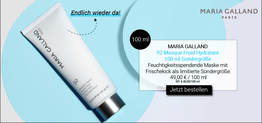NEW IN: MARIA GALLAND - 92 MASQUE FROID HYDRATANT