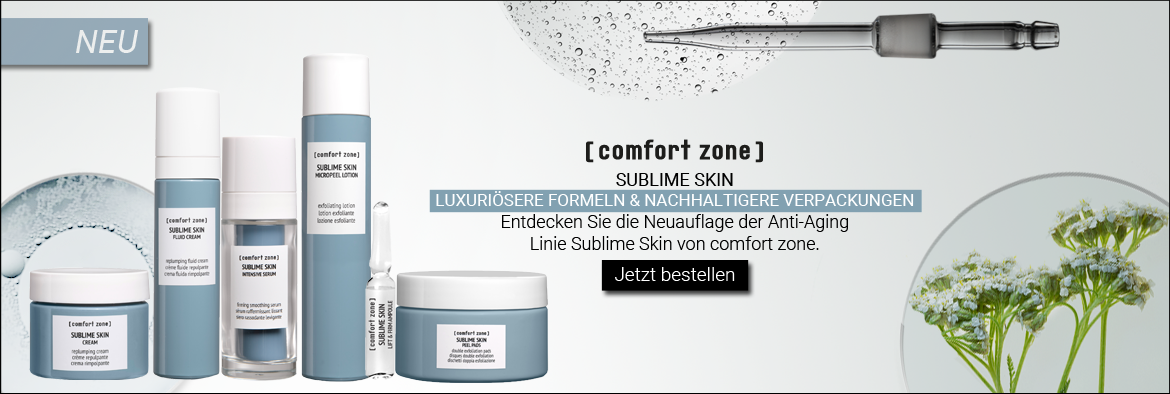 NEW IN: COMFORT ZONE SUBLIME SKIN